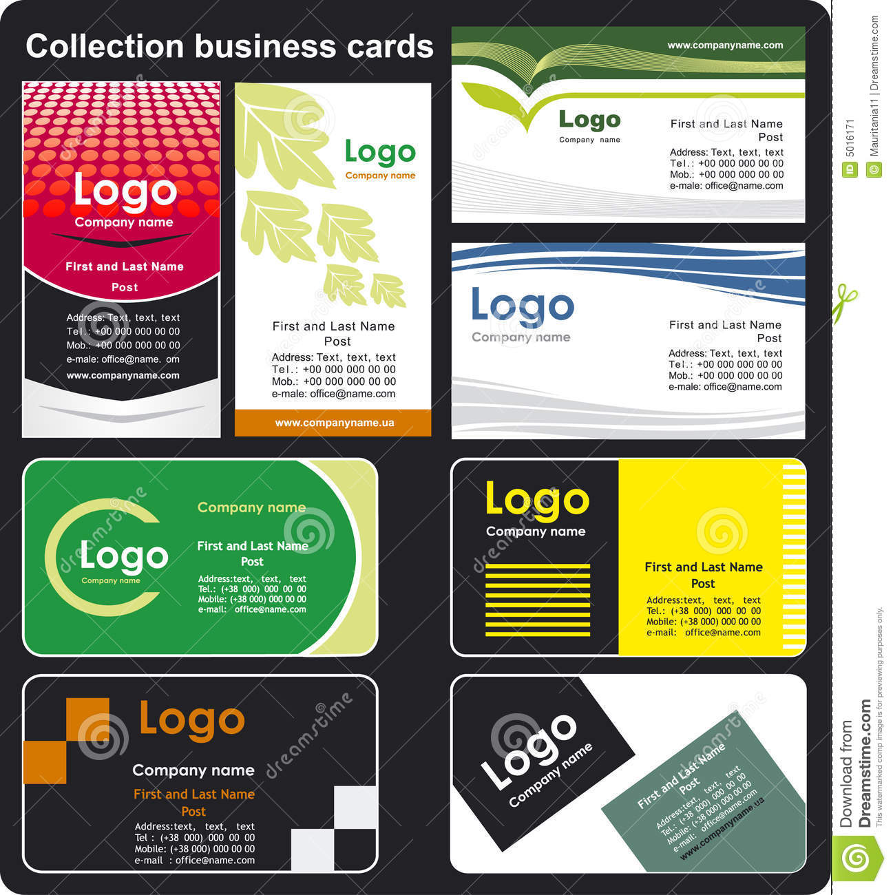 Collection business cards stock image image 5016171 for Business card collection