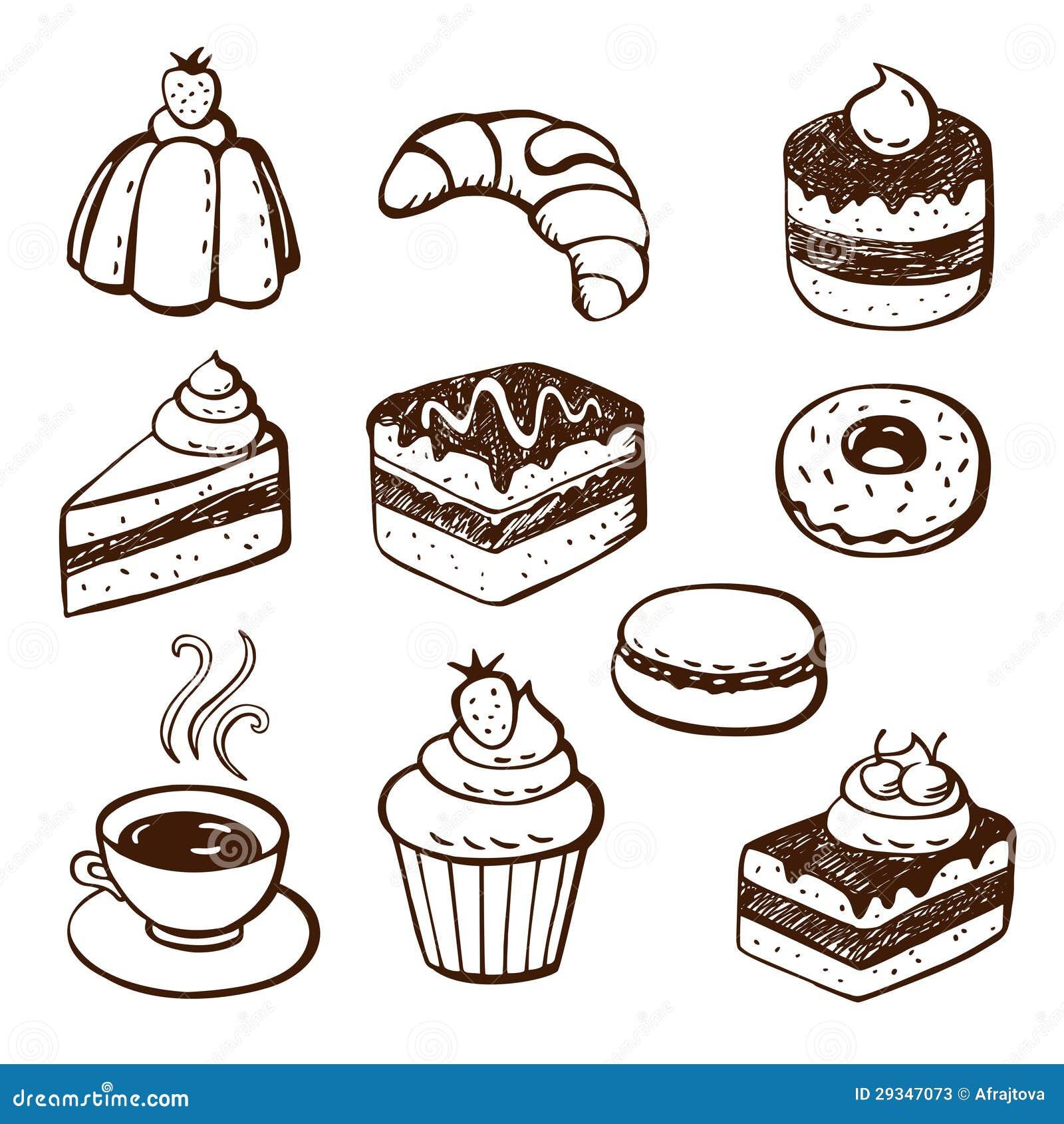 Как нарисовать десерты поэтапно