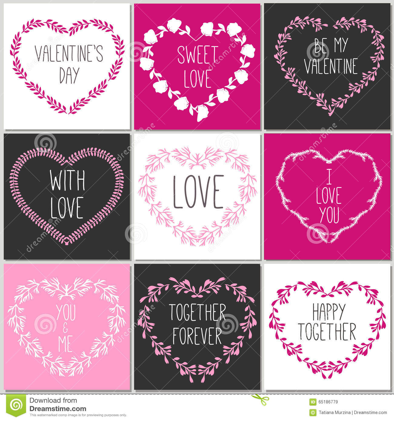 Collection of 8 cards of love design valentine 39 s day for Love in design