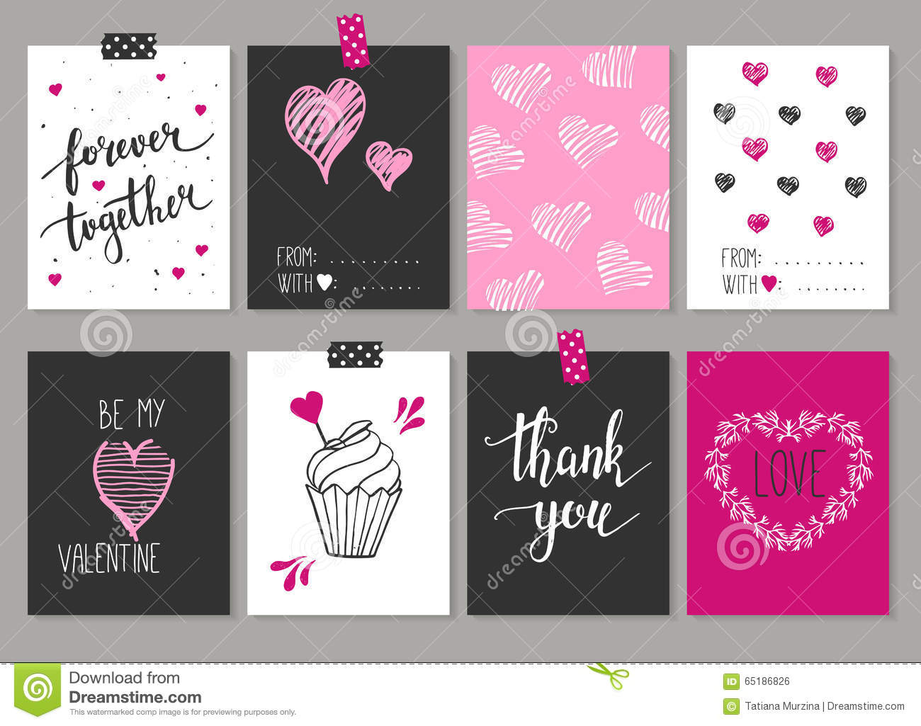 Collection Of 8 Cards Of Love Design Valentines Day Posters Se – How to Design Valentine Card