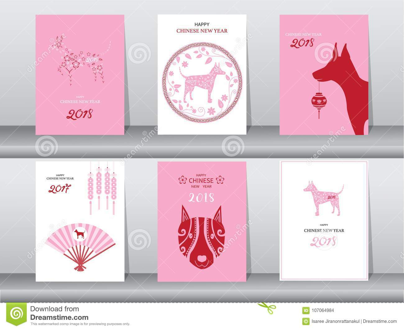 collection of chinese new year cardspostertemplategreeting cardsanimals