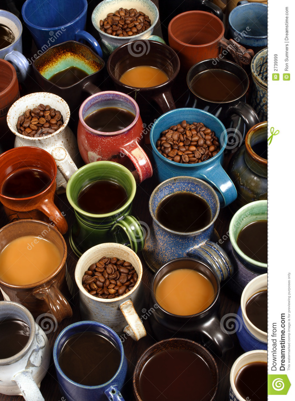 Collection Of Coffee Mugs Royalty Free Stock Images