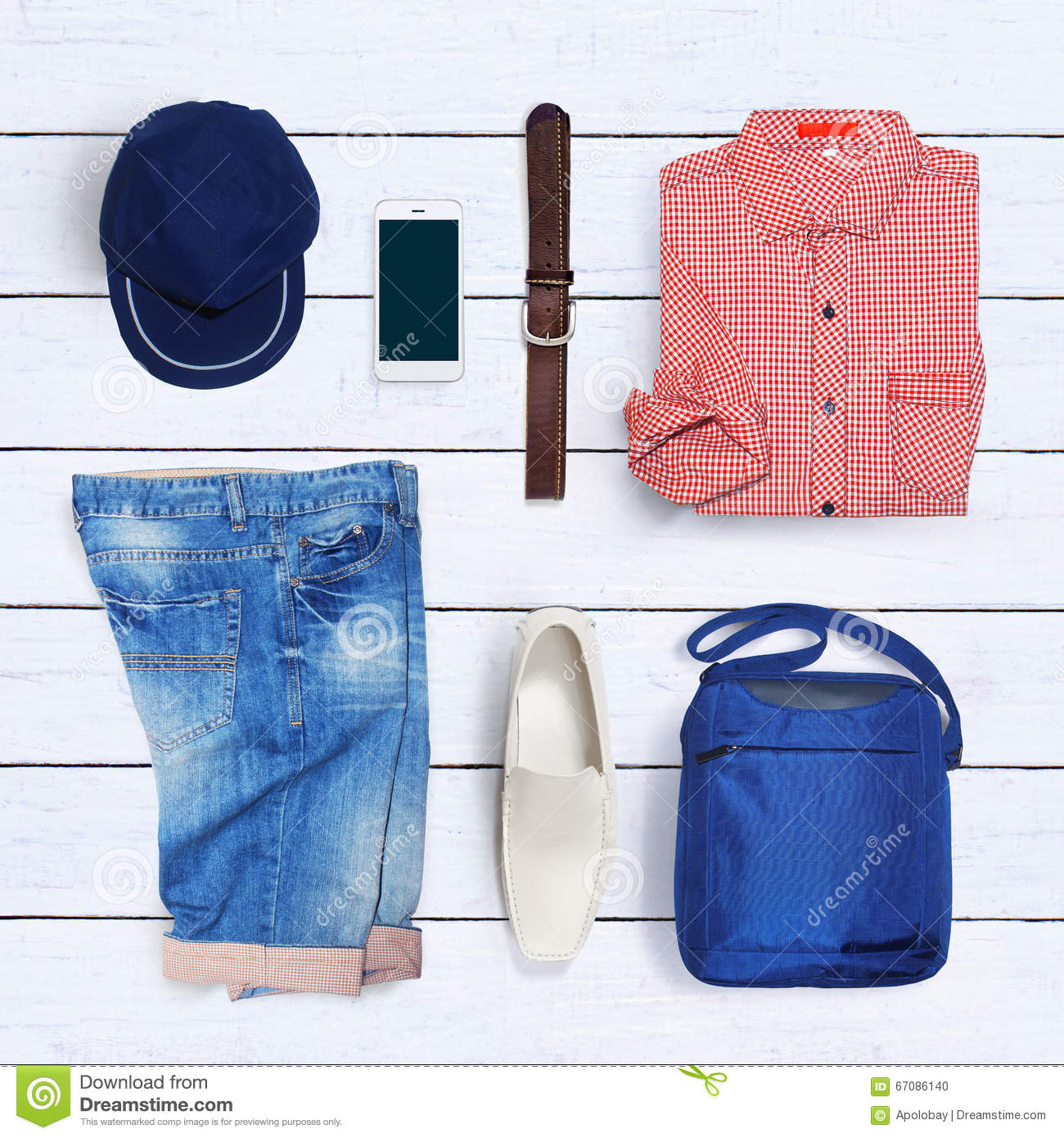 67f54977 Collection Collage Of Men's Clothing Stock Photo - Image of ...