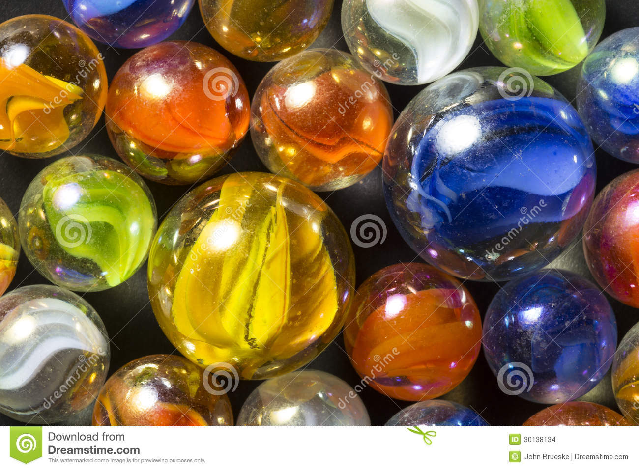 Colorful Ribbon Marbles