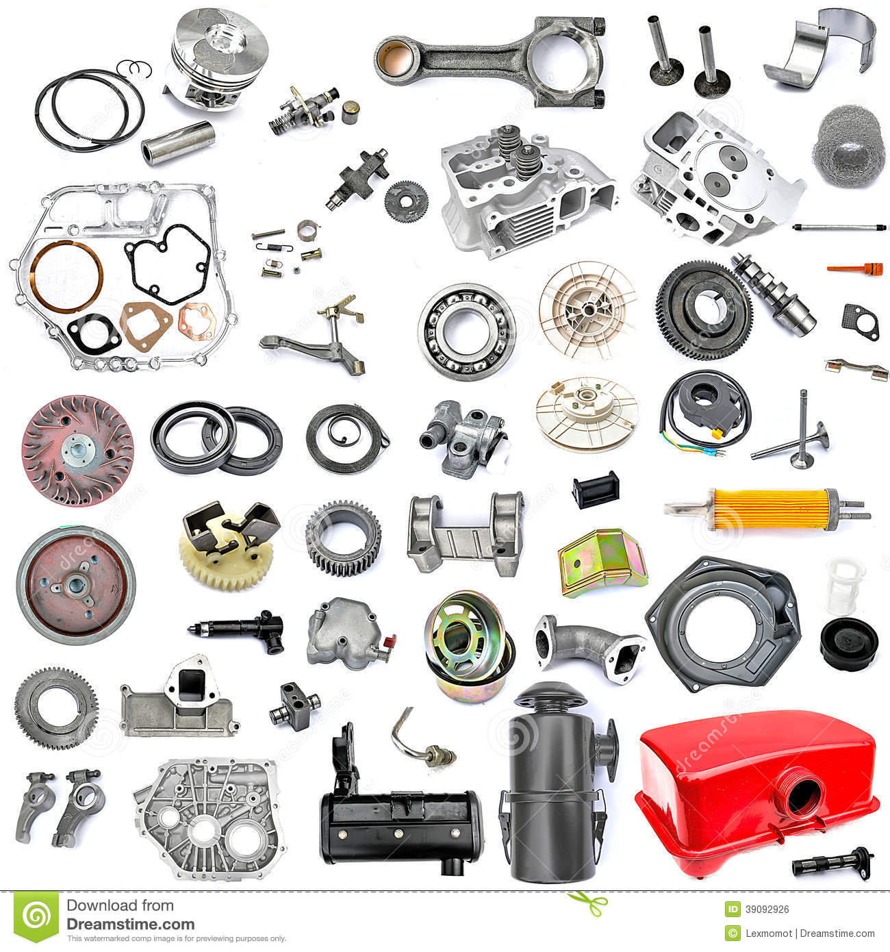 Collection Of Components Power Tiller Stock Photo - Image: 39092926