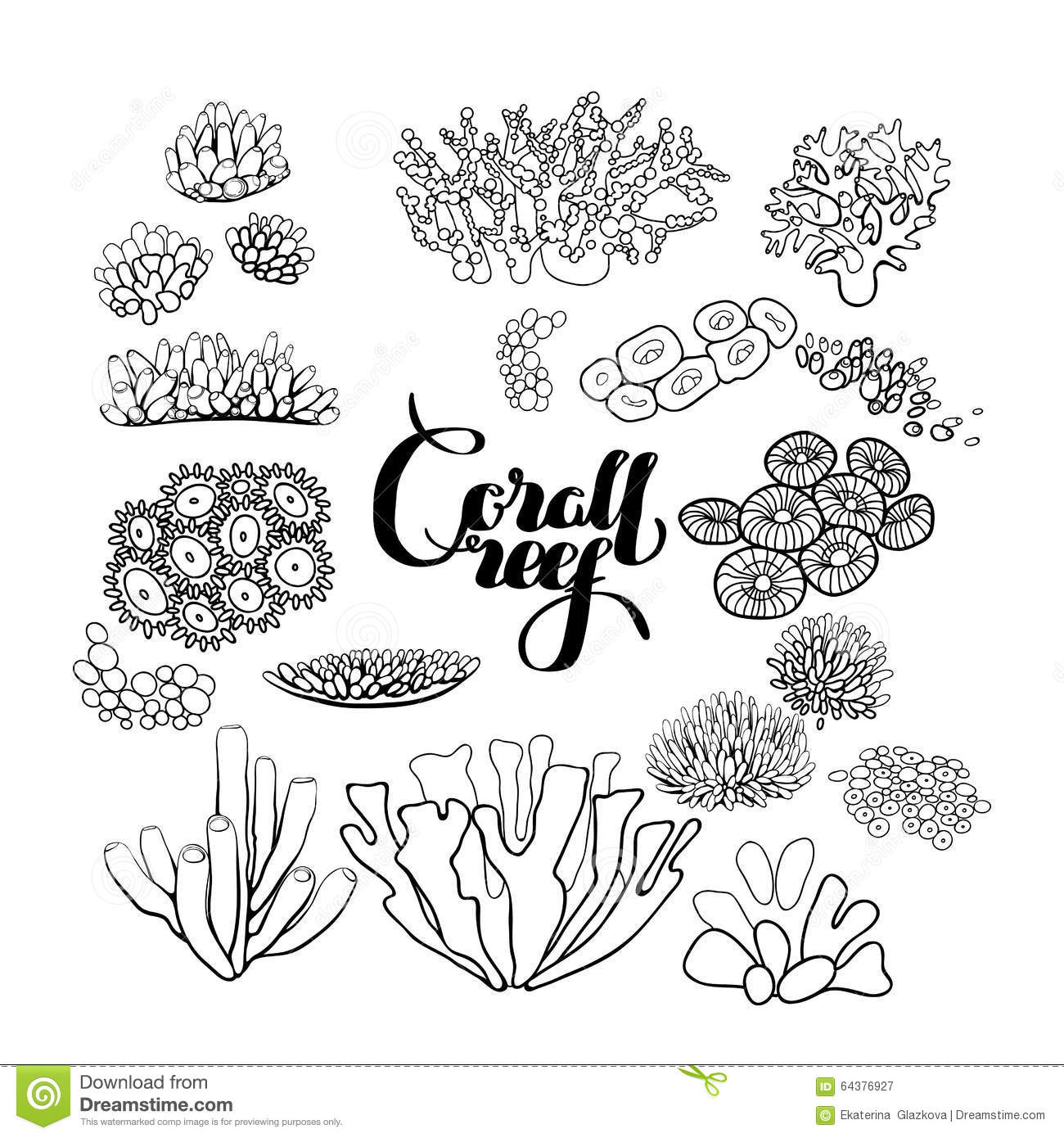 ocean plants coloring pages free - photo#22