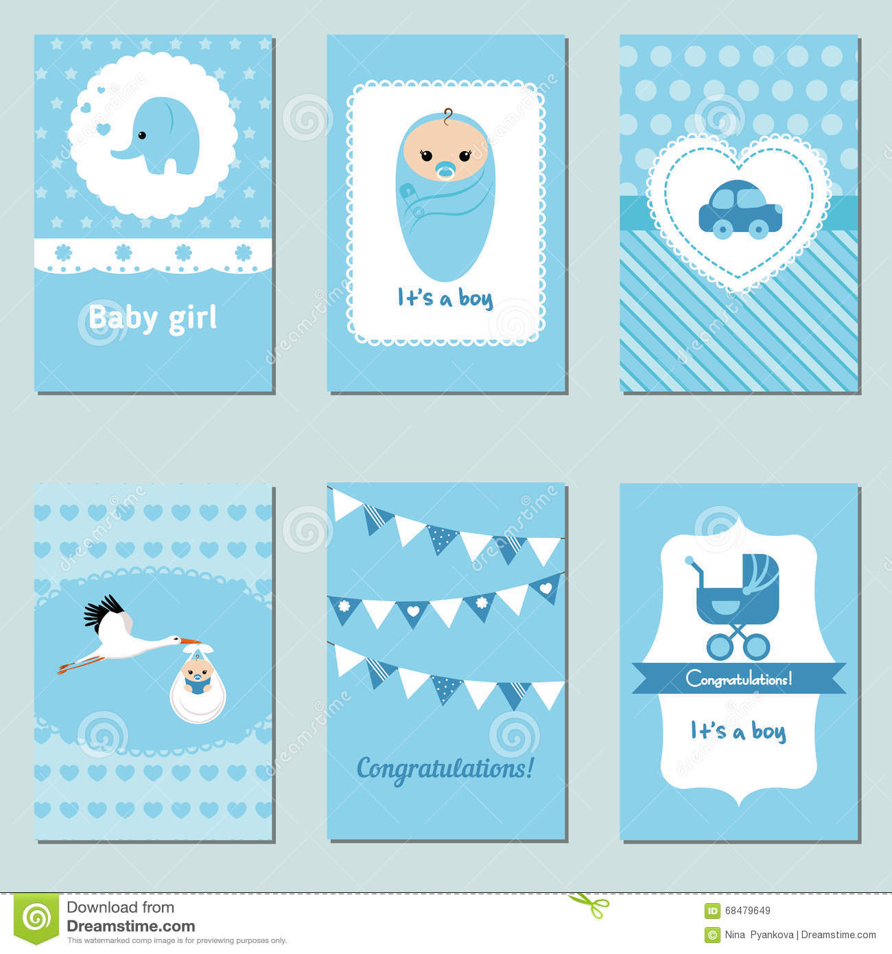 collection of cute baby boy card stock image - image of childhood