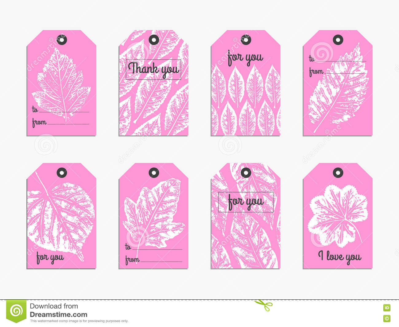 Collection Of Cute Gift Tag Stock Vector - Image: 81649865