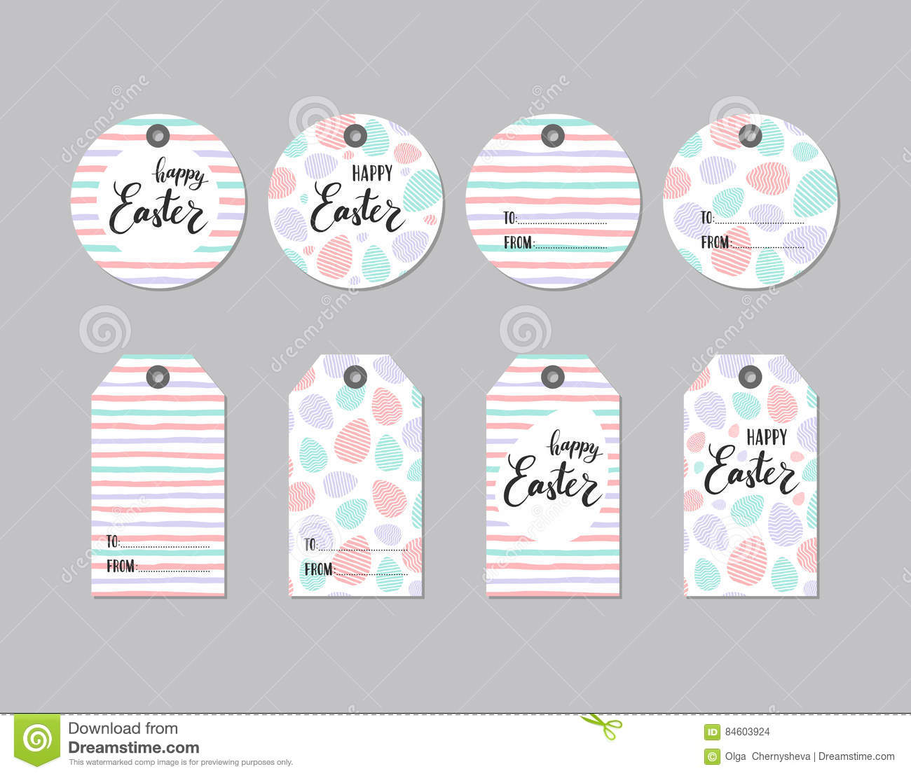 Collection of cute gift tag happy easter stock vector image collection of cute gift tag happy easter negle Gallery
