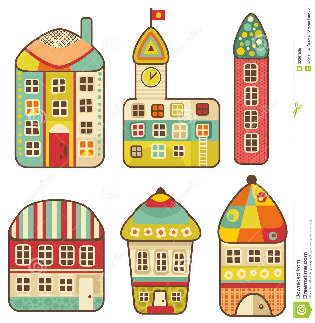 Collection of cute houses royalty free stock photo for Cute house images