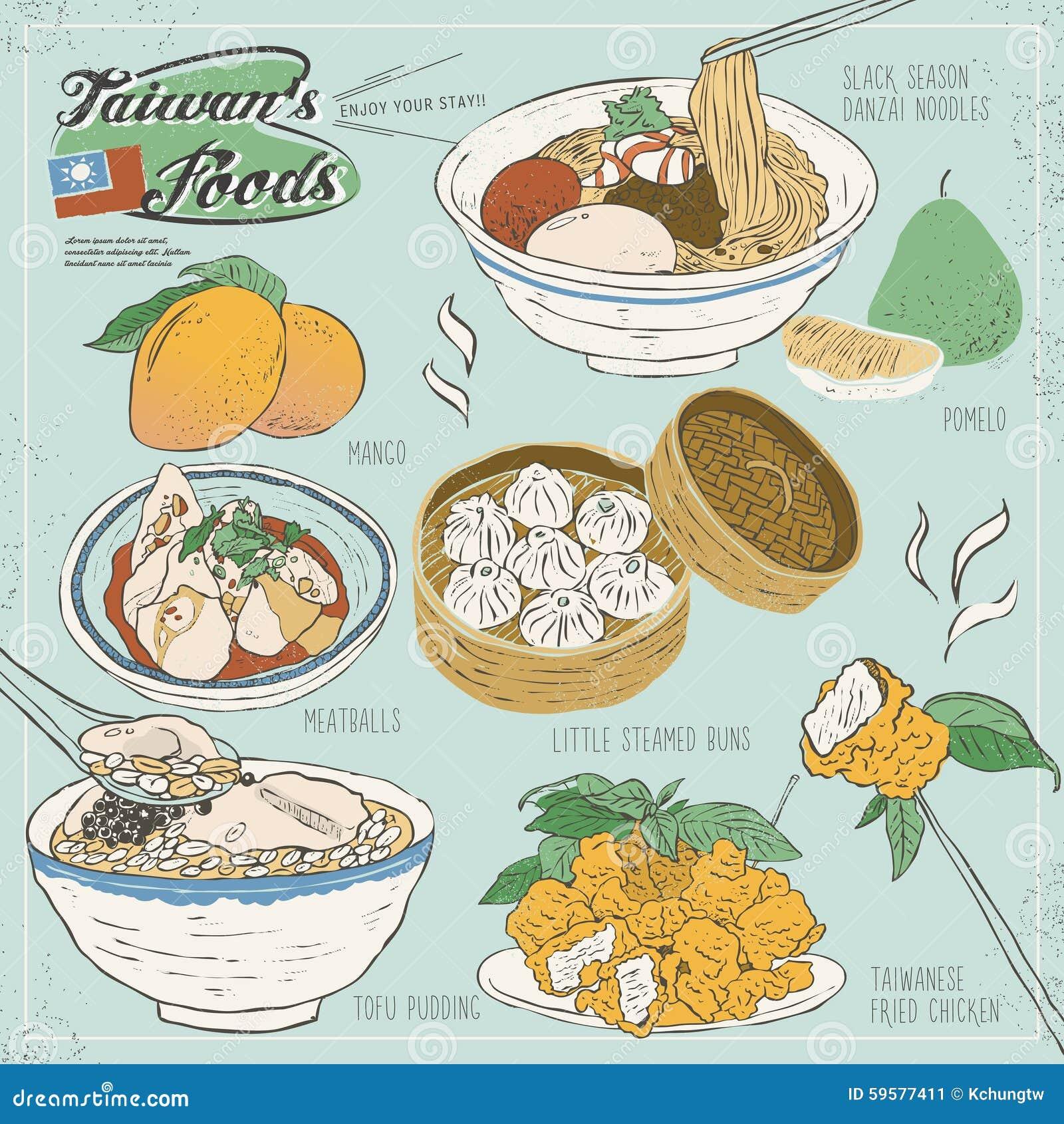 Collection délicieuse de casse-croûte de Taïwan