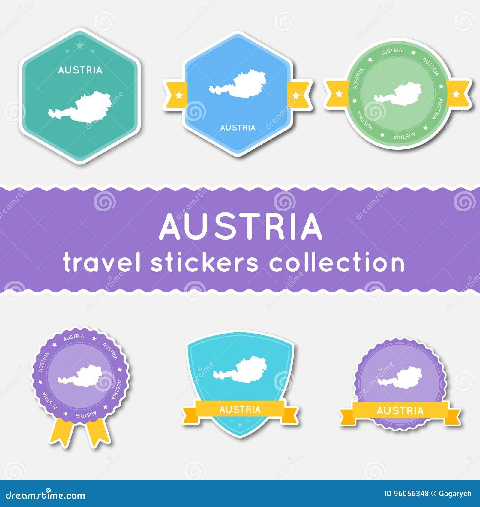 Collection d autocollants de voyage de l Autriche