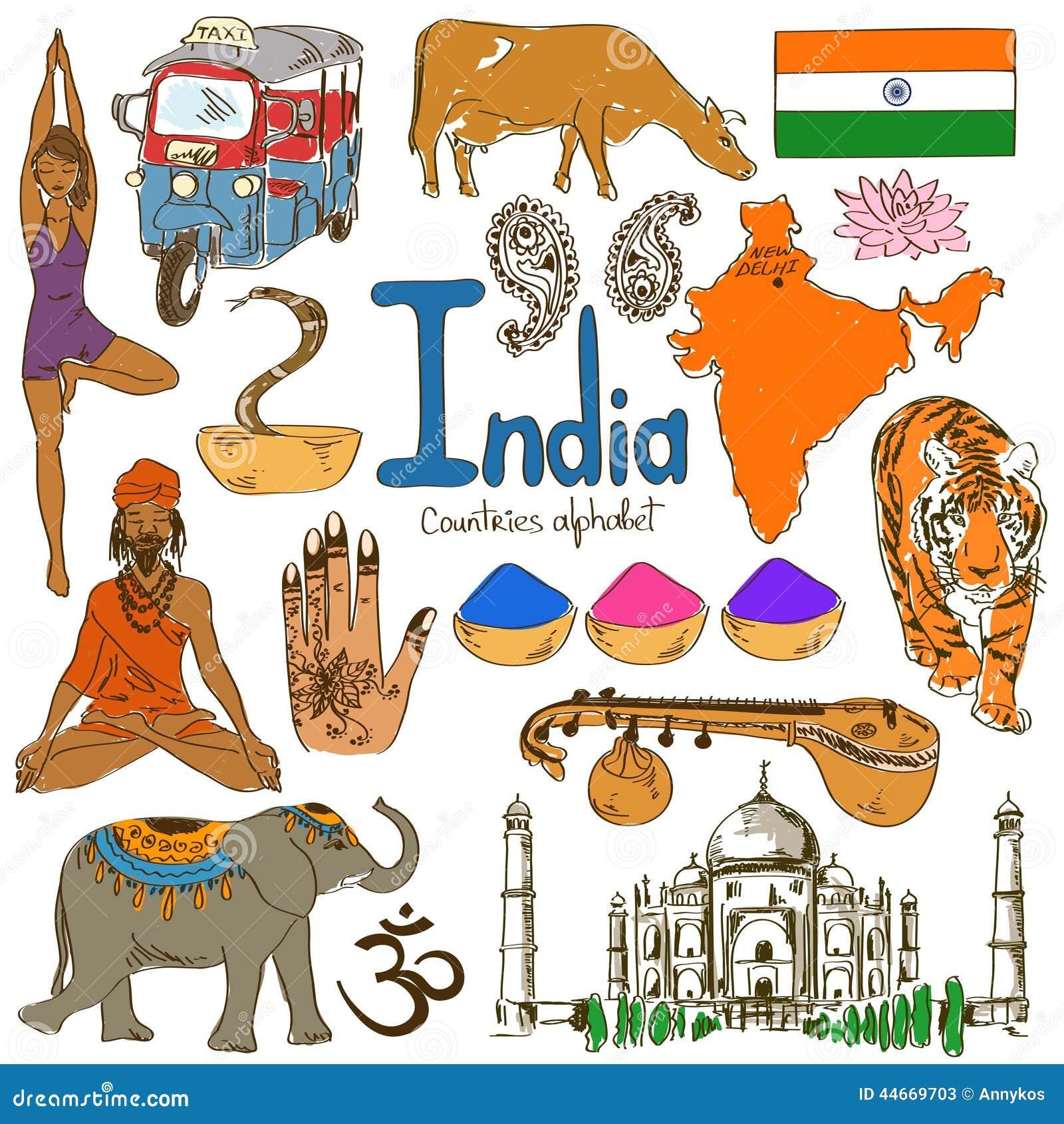 Collection d icônes d Inde