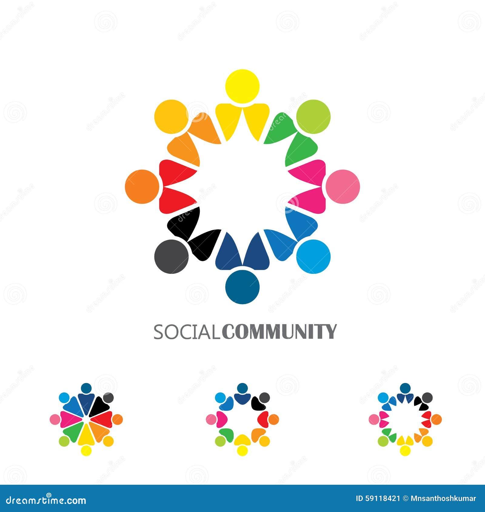 Collection d icônes de personnes en cercle - dirigez l engagement de concept