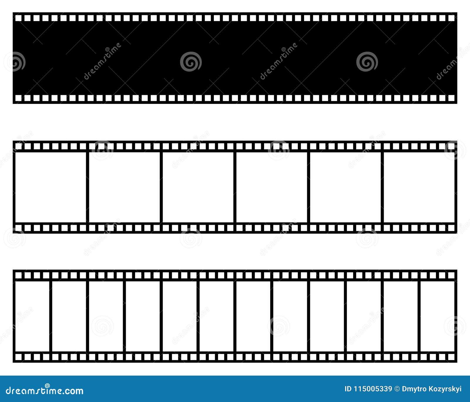 Collection de bande de film Descripteur de vecteur Cinéma, film, photo, cadre d extrait de film