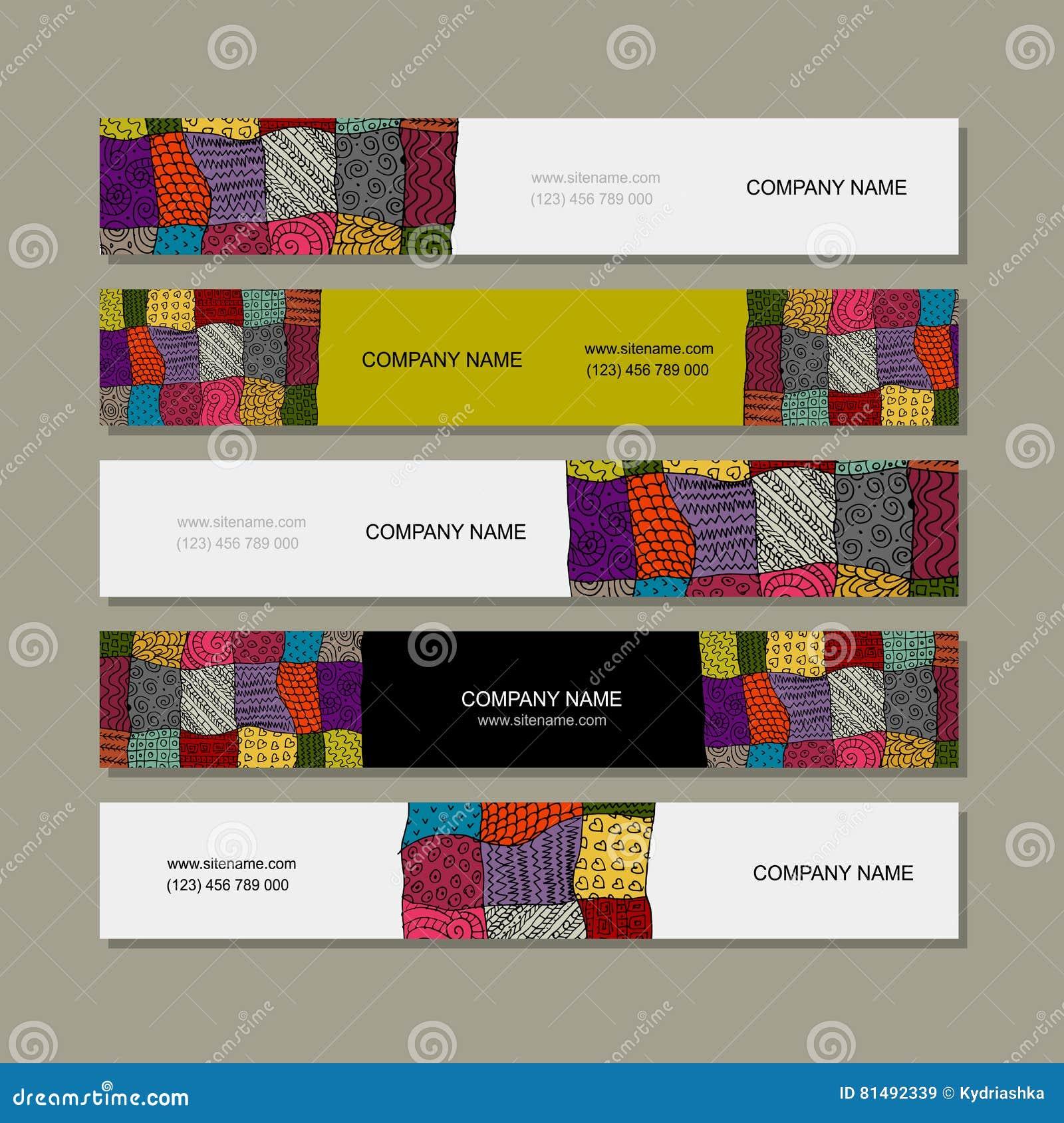 Collection De Carte Visite Professionnelle Conception Tapis Patchwork