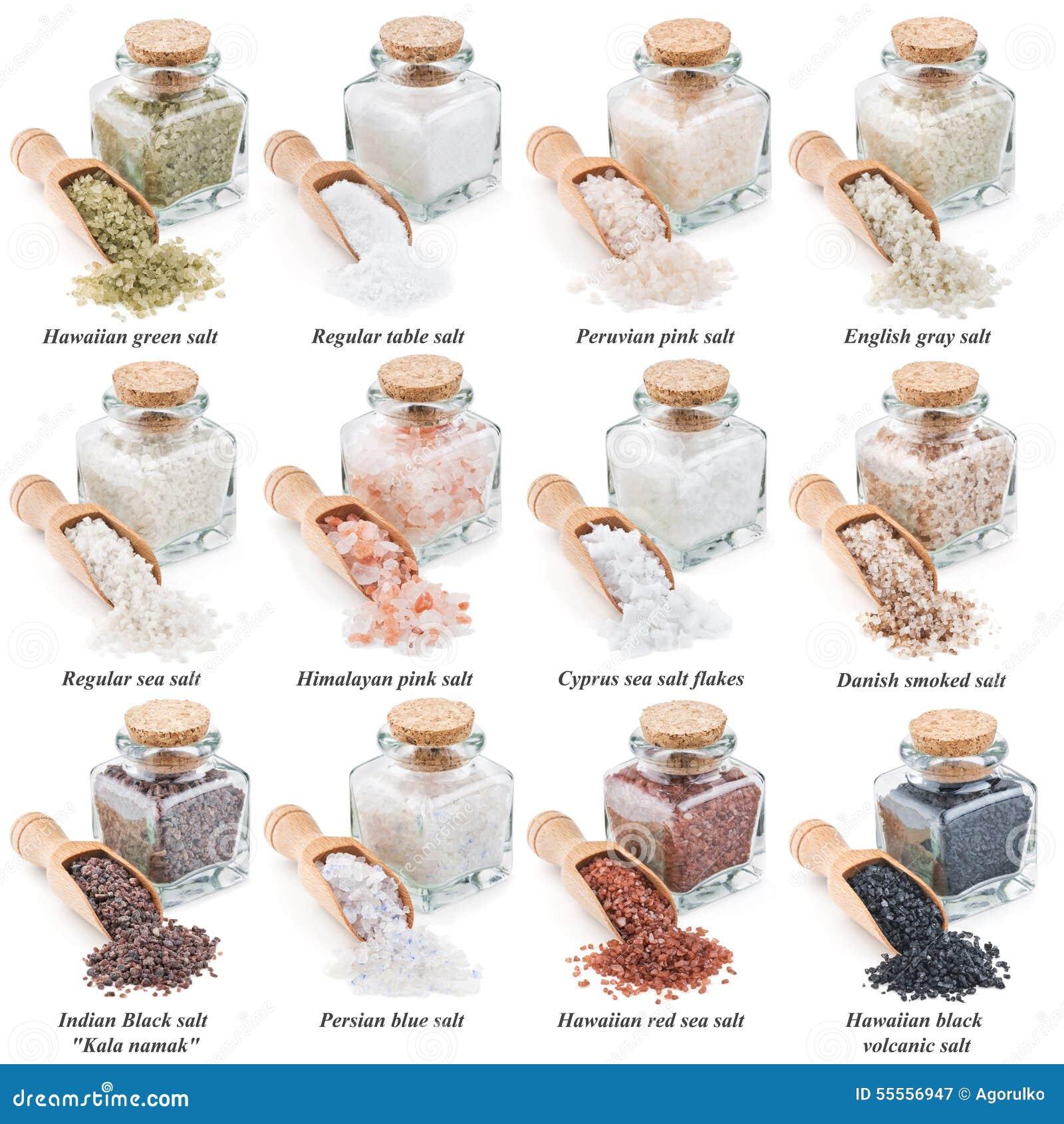 Collection de diff rents types de sel d 39 isolement dessus photo stock im - Differents types de ventilation ...