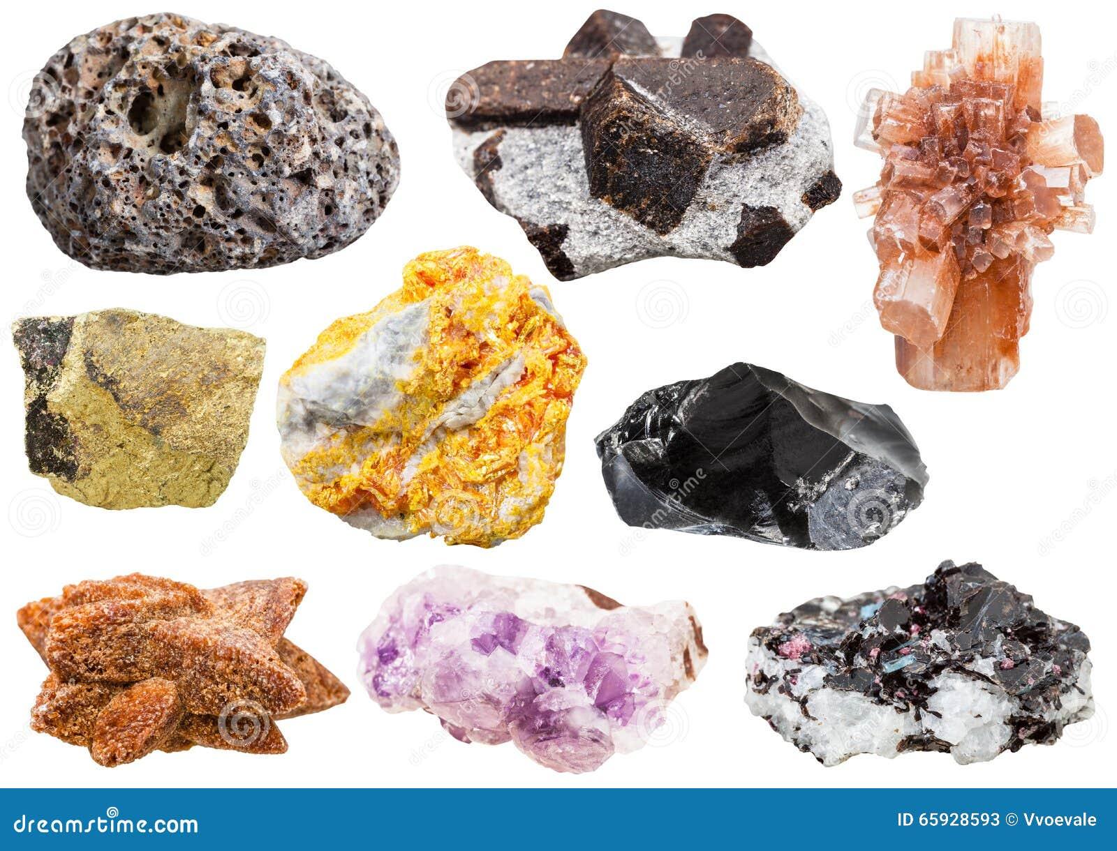 Mineraler stenar kristaller