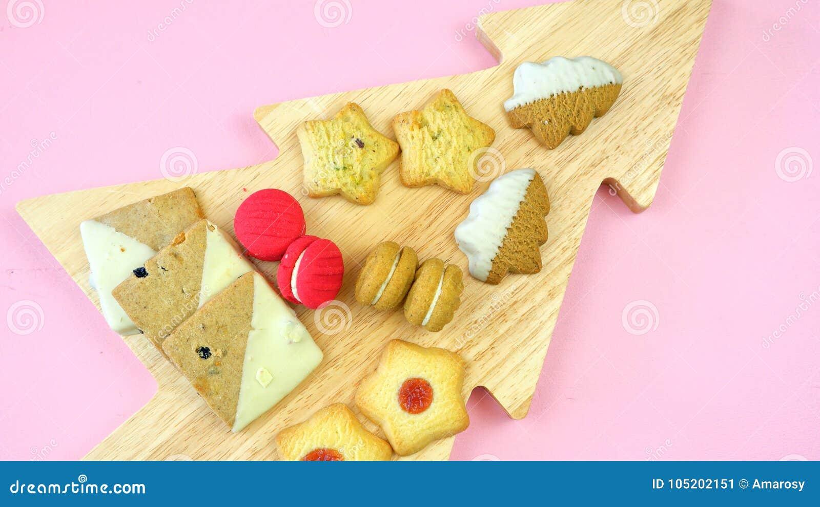 Collection de fête de nourriture traditionnelle de vacances de Noël de style anglais