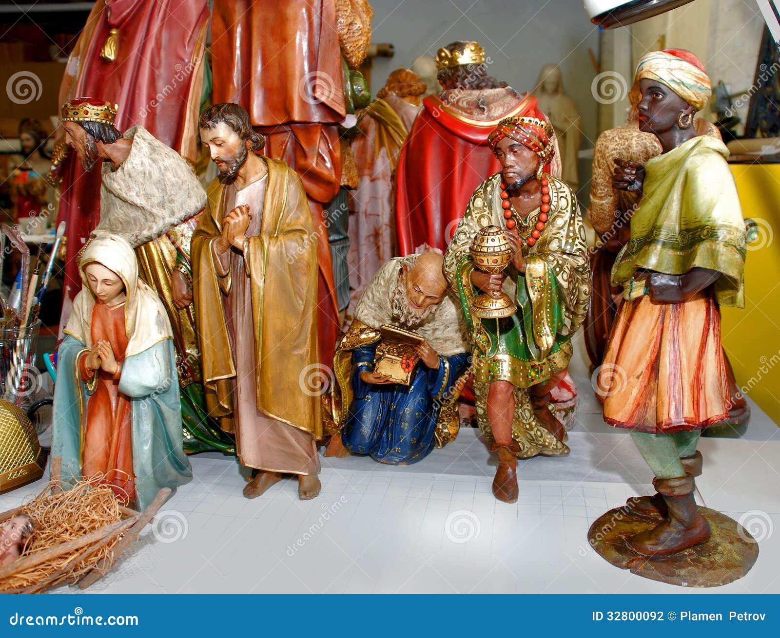 Collection de figurine de nativité