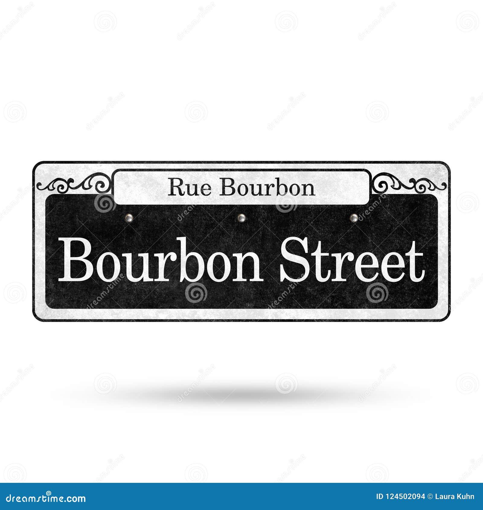 Collection de nom de rue de quartier français de plaques de rue de la Nouvelle-Orléans