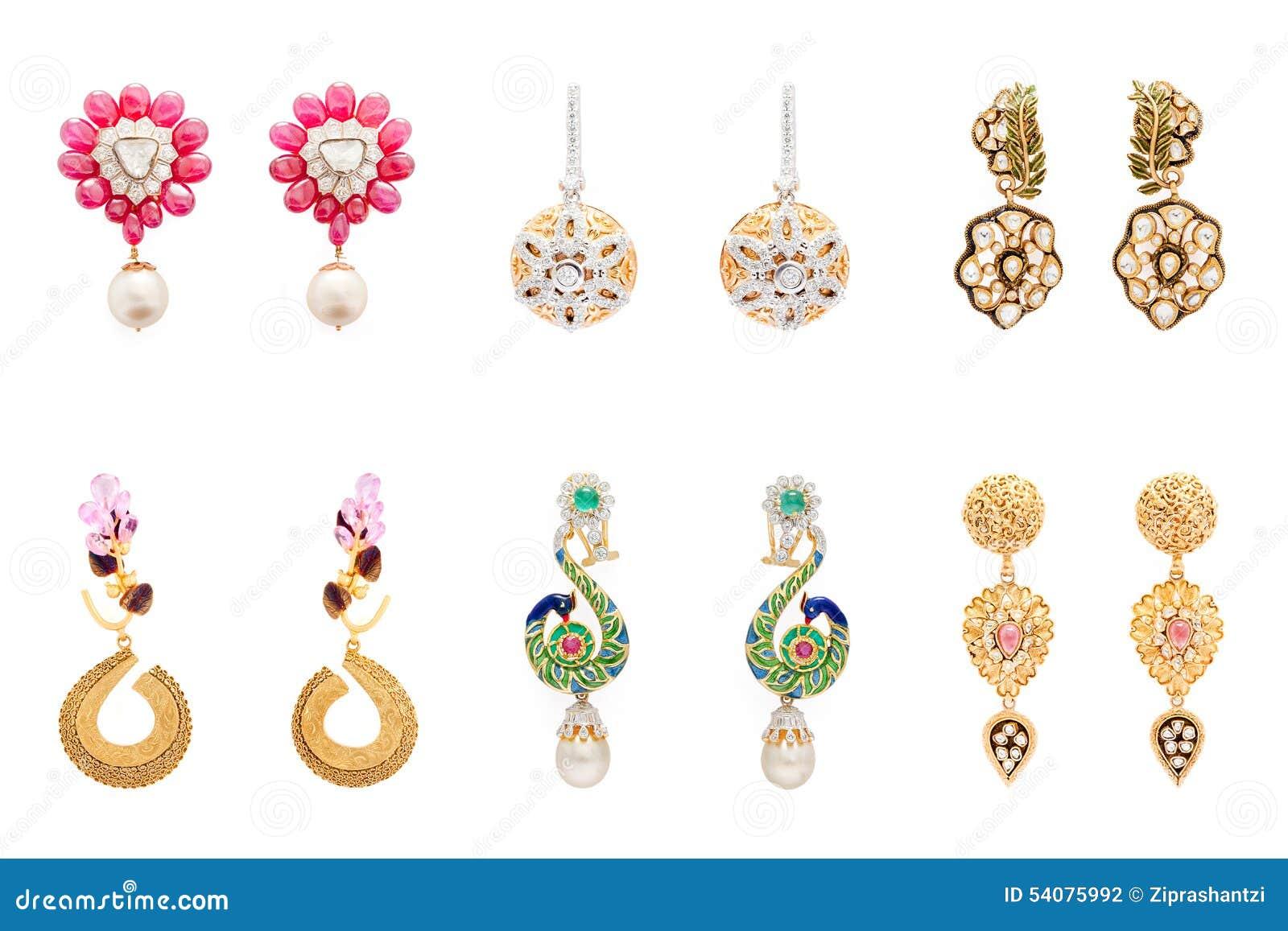 Collection de paires de boucles d oreille de diamant