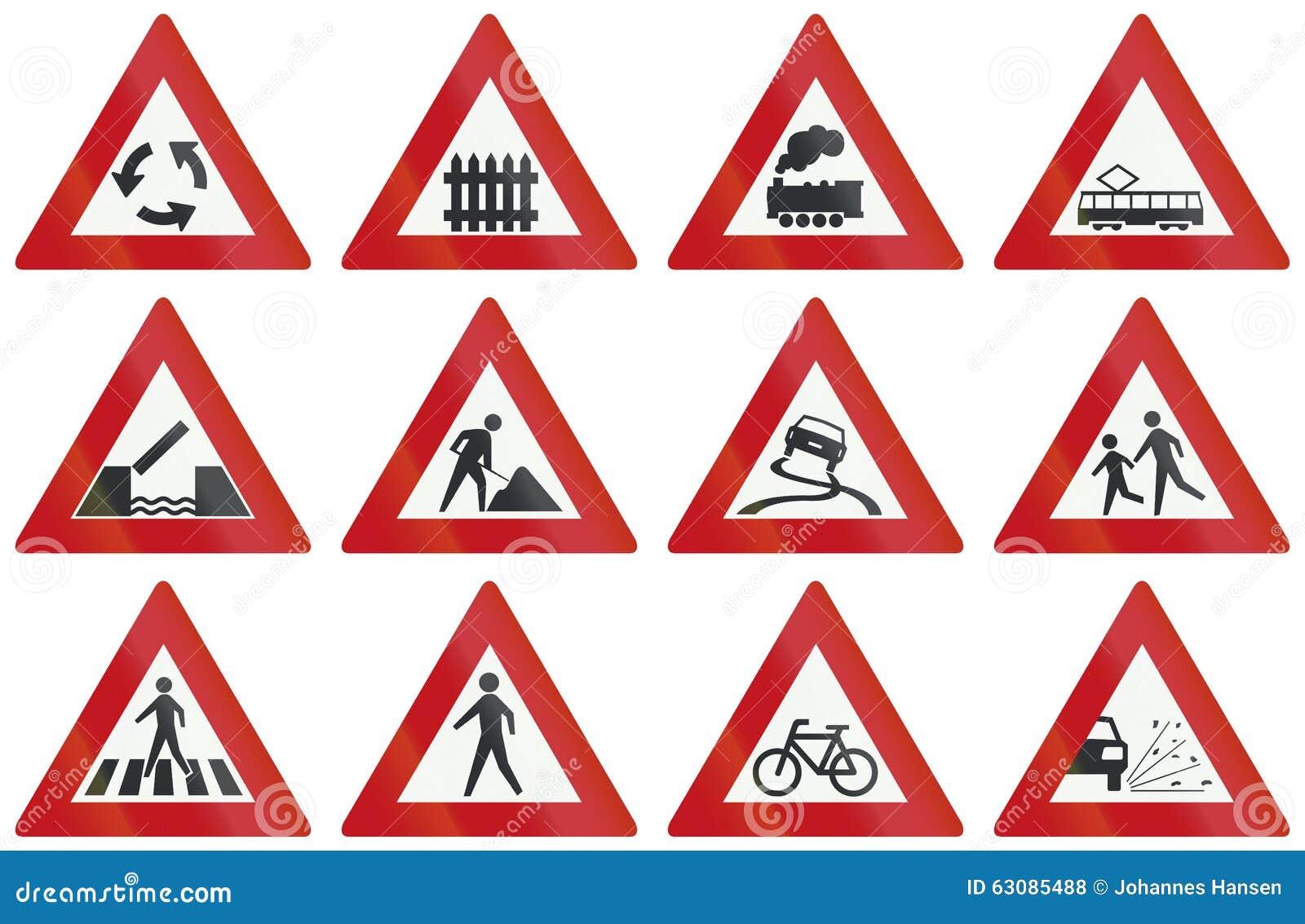 Download Collection De Panneaux Routiers D'avertissement Néerlandais Illustration Stock - Illustration du construction, barrière: 63085488