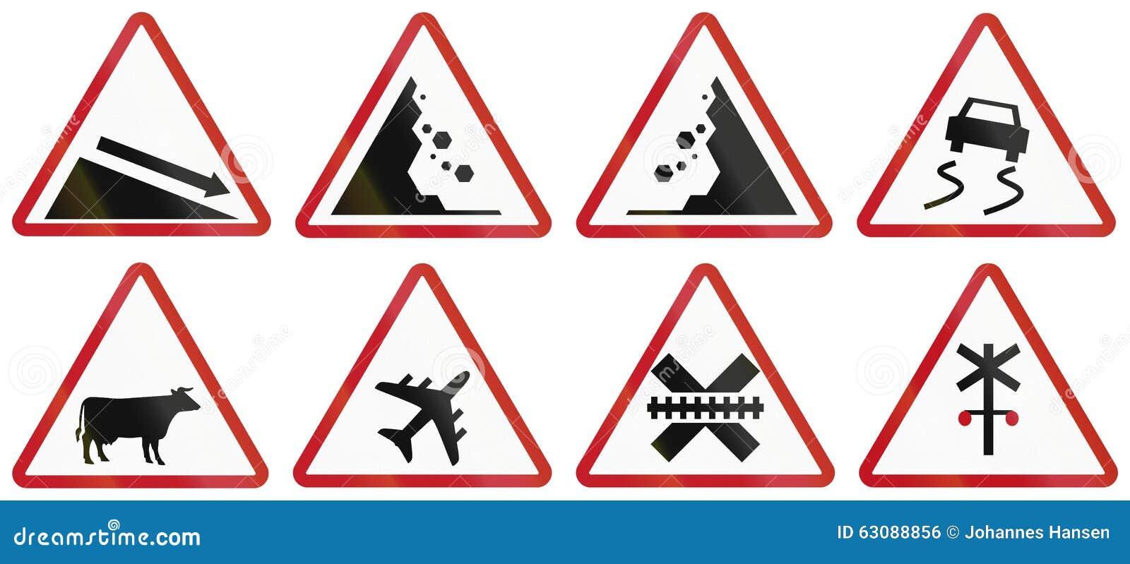 Download Collection De Panneaux Routiers D'avertissement Philippins Illustration Stock - Illustration du image, asie: 63088856