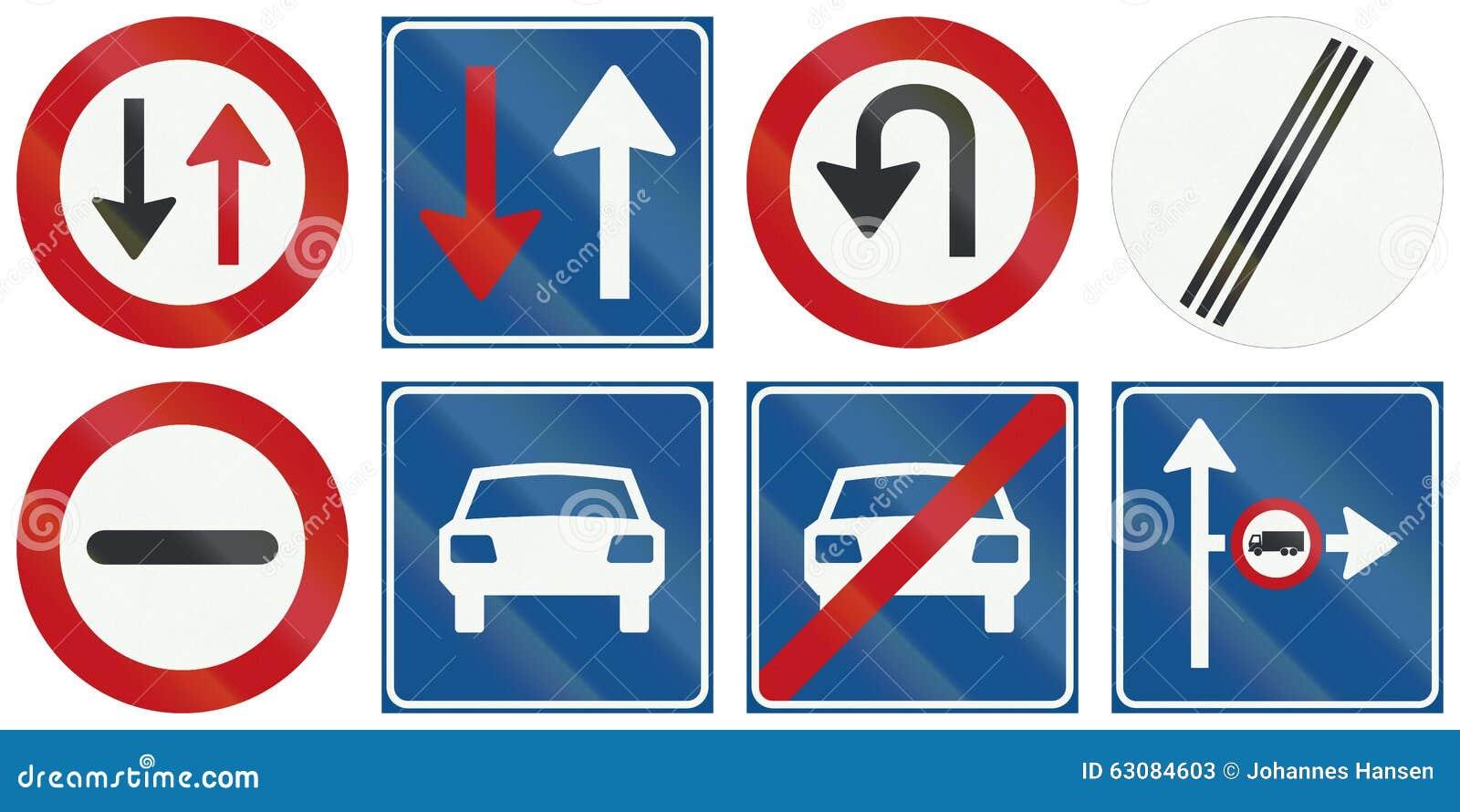 Download Collection De Panneaux Routiers De Réglementation Néerlandais Illustration Stock - Illustration du gauche, camions: 63084603