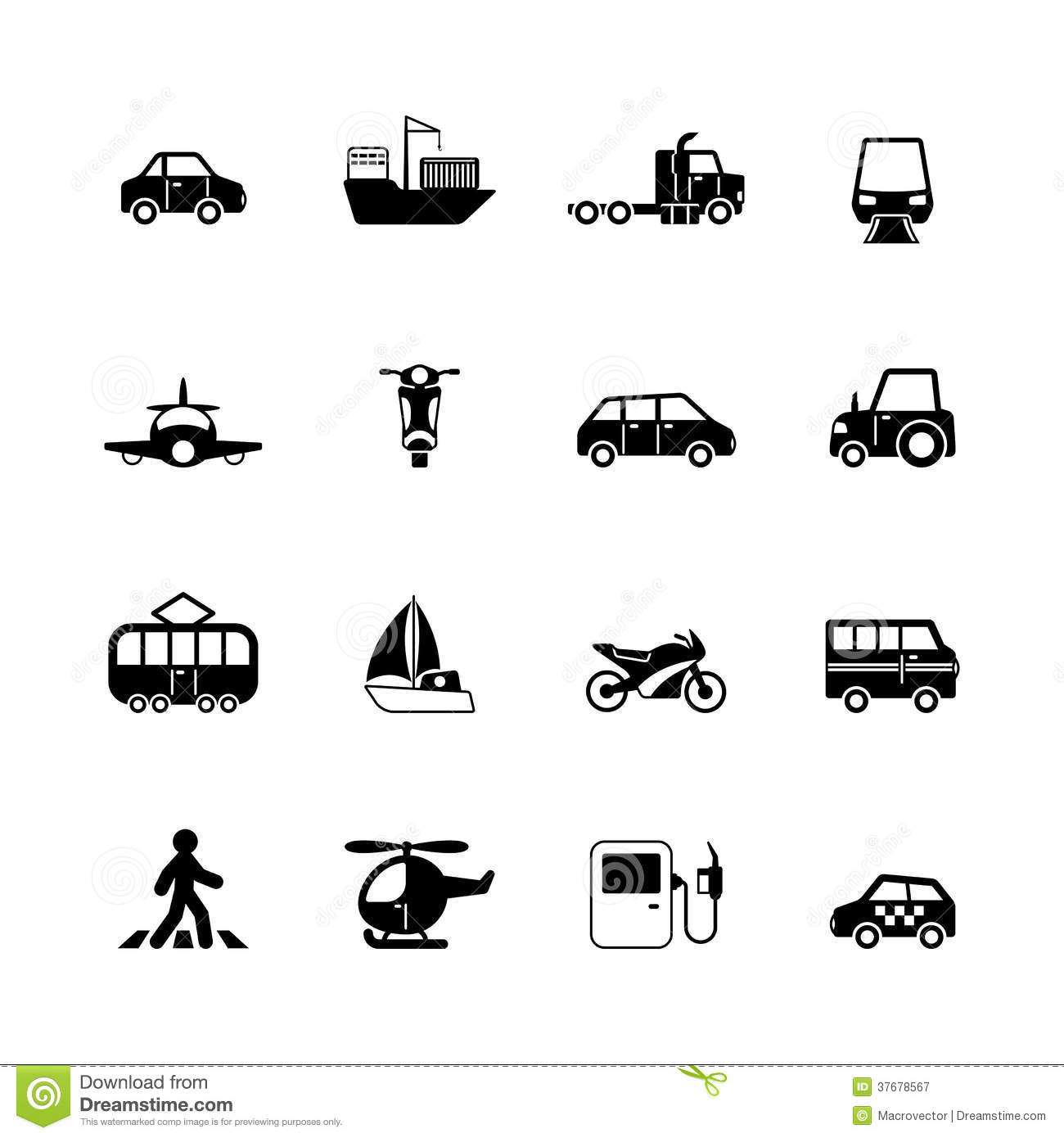 Photographie Stock Libre De Droits Collection De Pictogrammes De Transport Image37678567 on ments