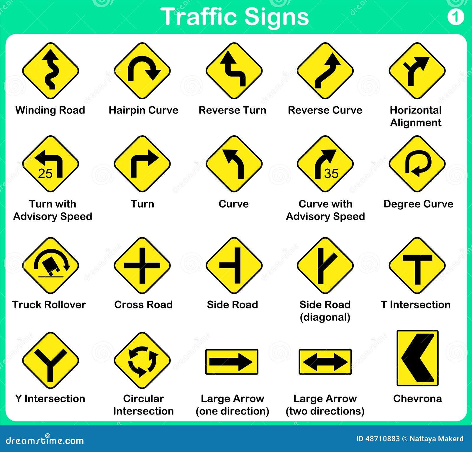 Collection de poteau de signalisation panneaux routiers d for De signs