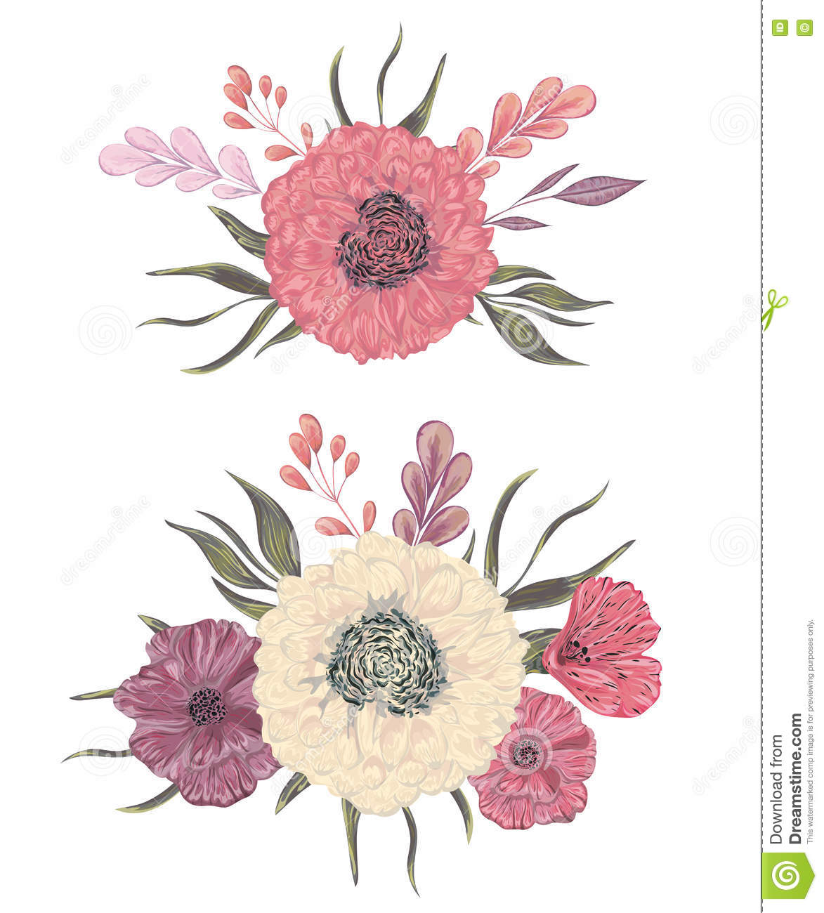 Collection decorative design elements for wedding invitations and collection decorative design elements for wedding invitations and birthday cards flowers leaves and buds izmirmasajfo
