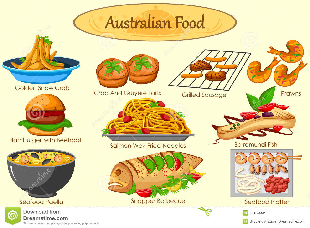 Barramundi cartoons illustrations vector stock images for Australian food cuisine
