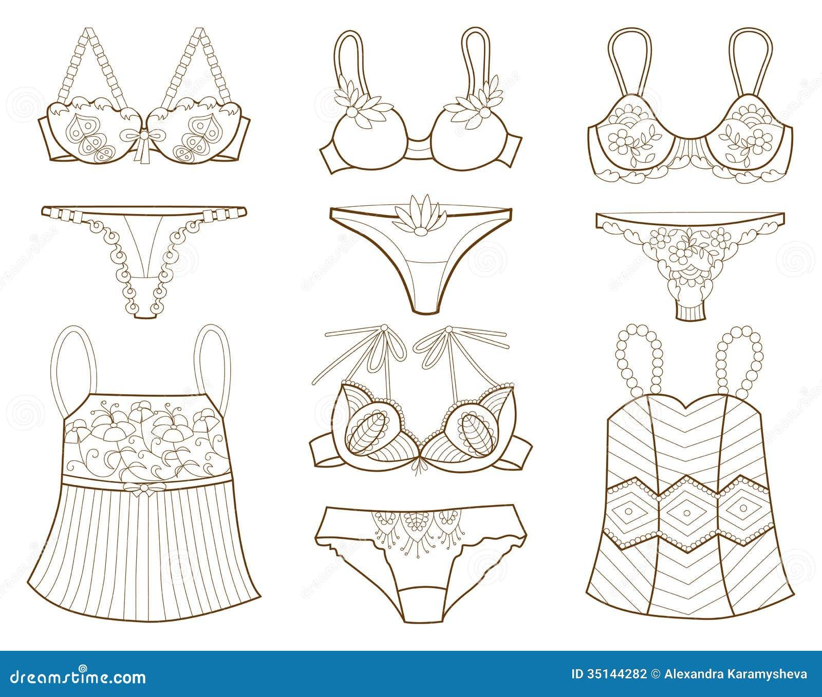 Collection Des Sous vtements De Femmes La Mode