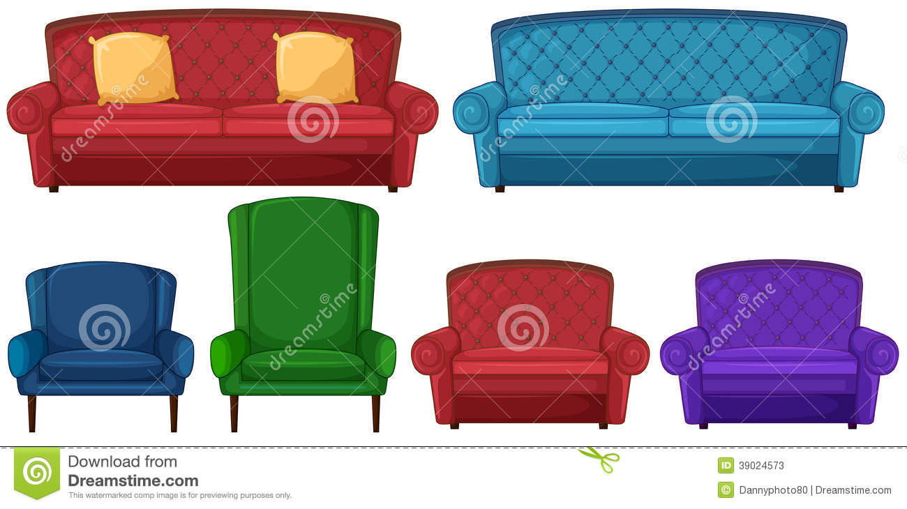 A collection of different chairs