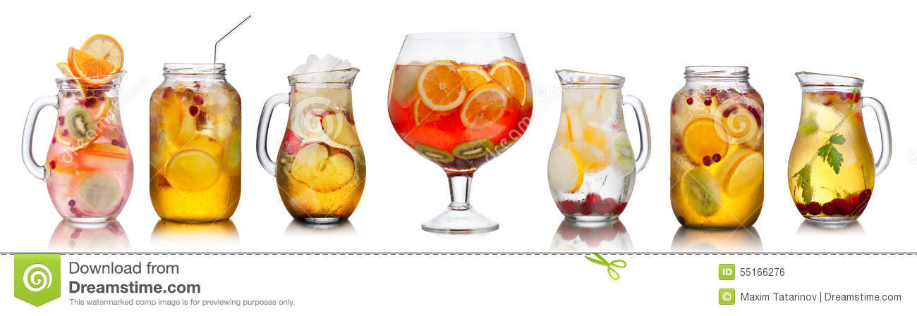 Download Collection Of Different Drinks Stock Photo - Image of organic, fizzy: 55166276