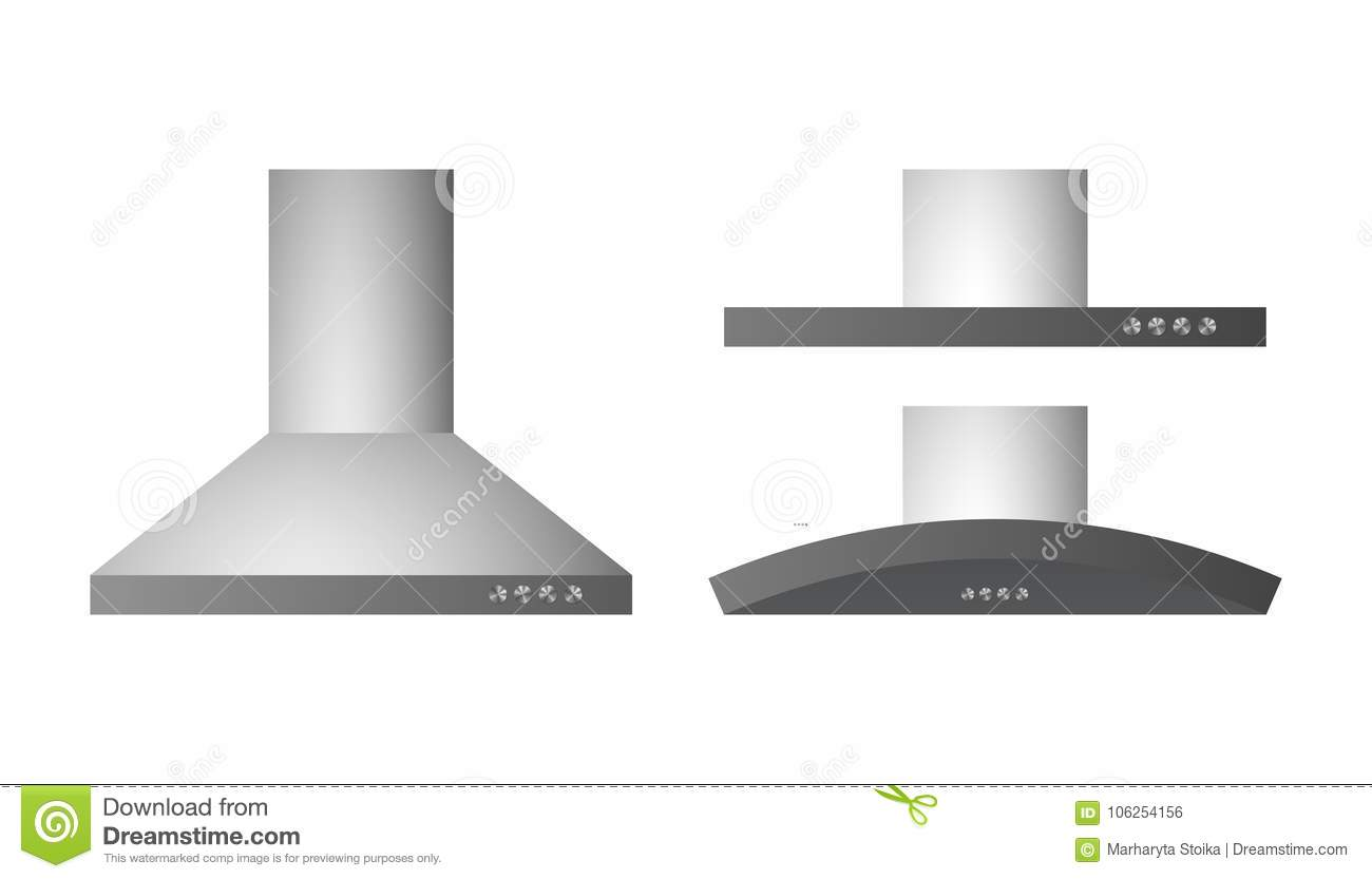 Collection of different range hood
