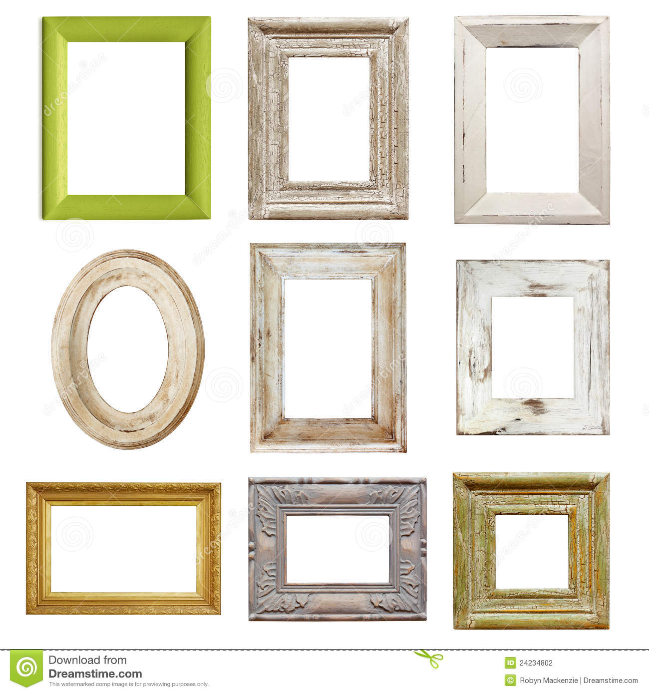 Collection of Distressed Picture Frames