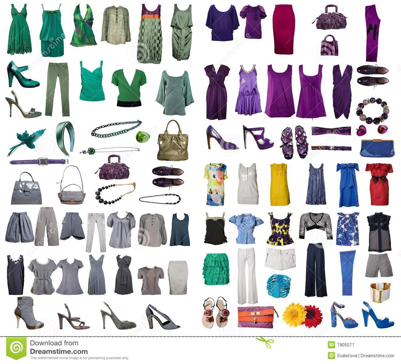 collection of dress and shoes stock image image 7905077