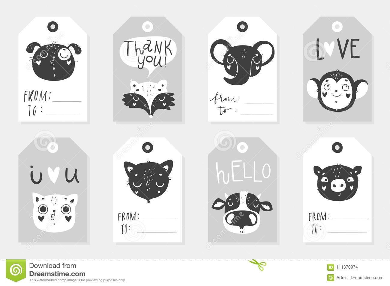 It's just a picture of Printable Baby Gift Tags regarding personalized