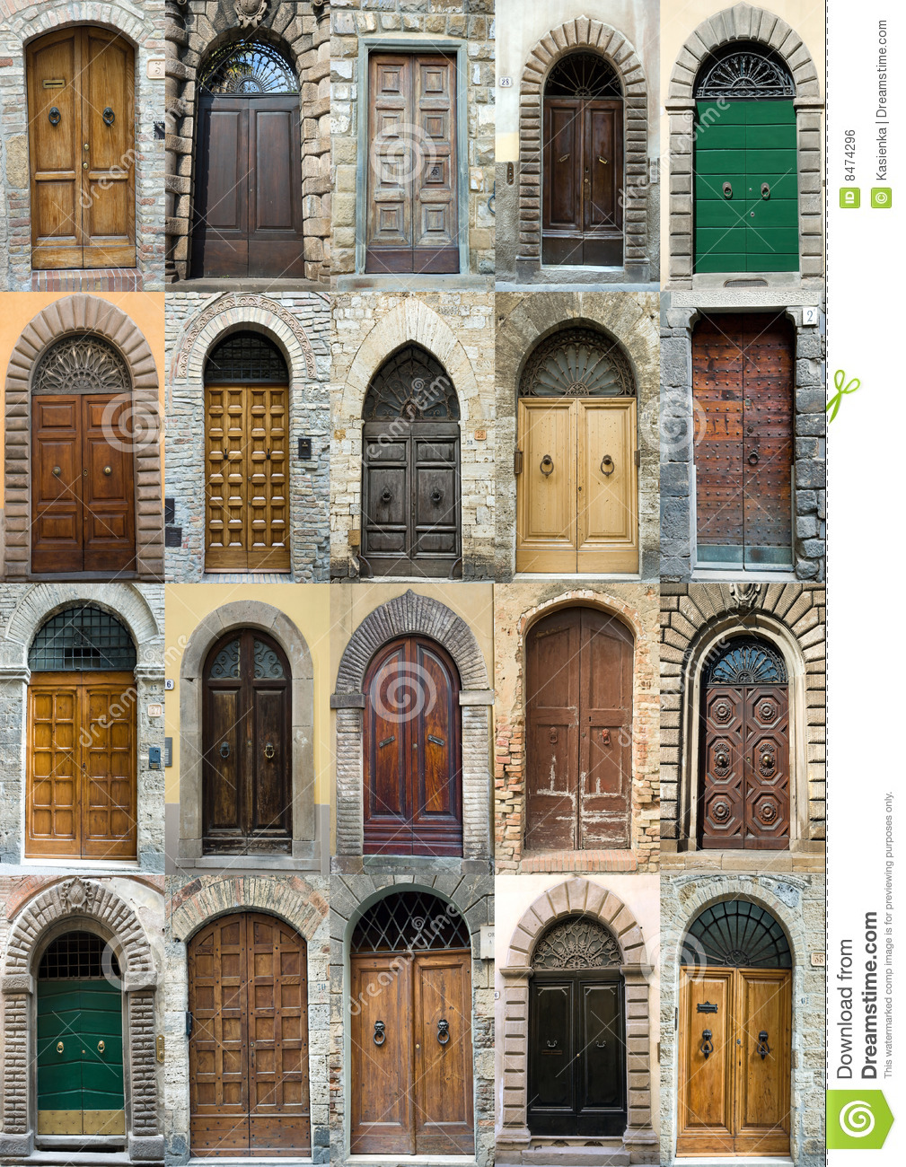 Collection Elegant Obsolete Door Tuscany Italy Royalty