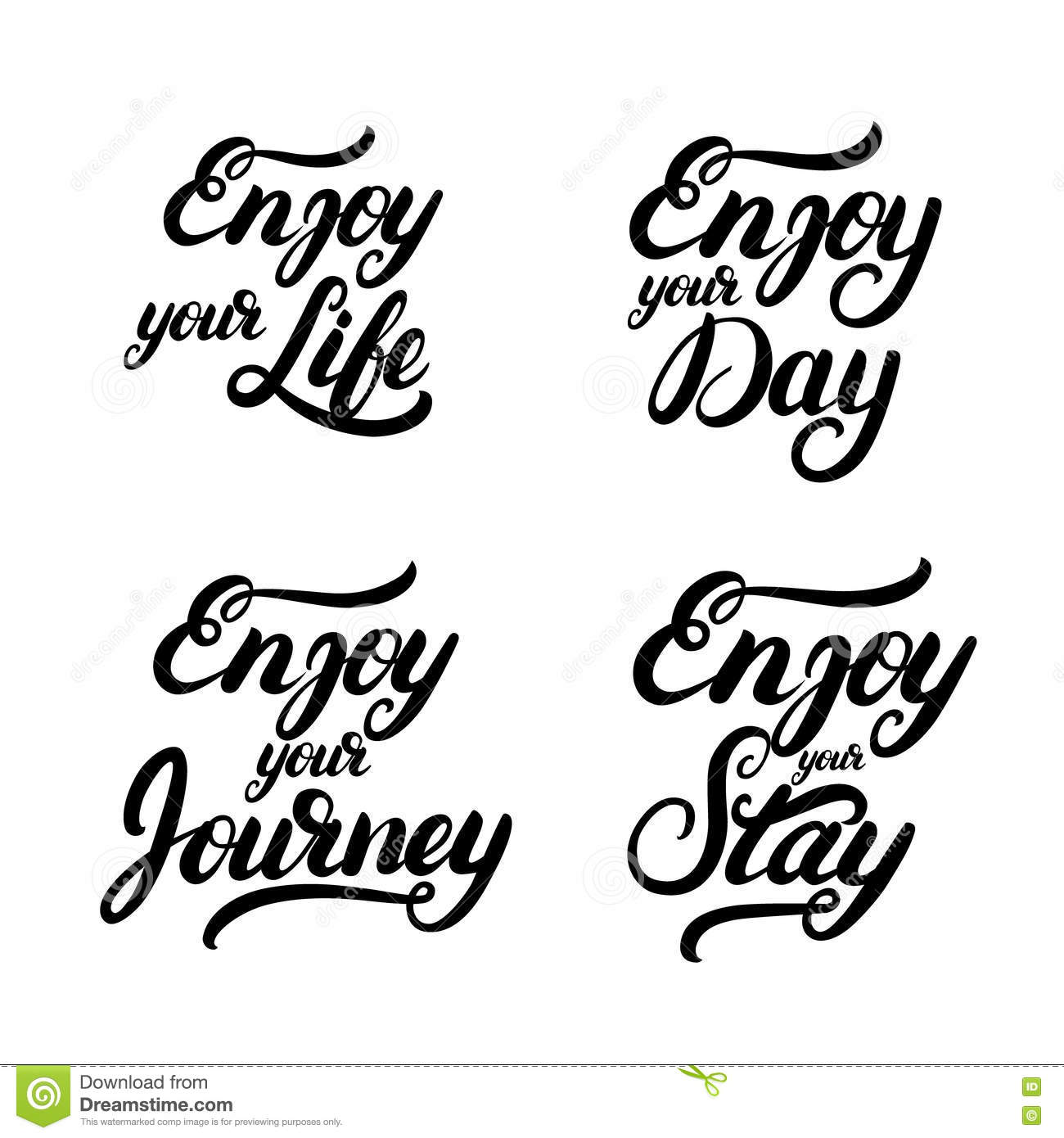 Collection Of Enjoy Quotes Stock Vector Illustration Of Beautiful
