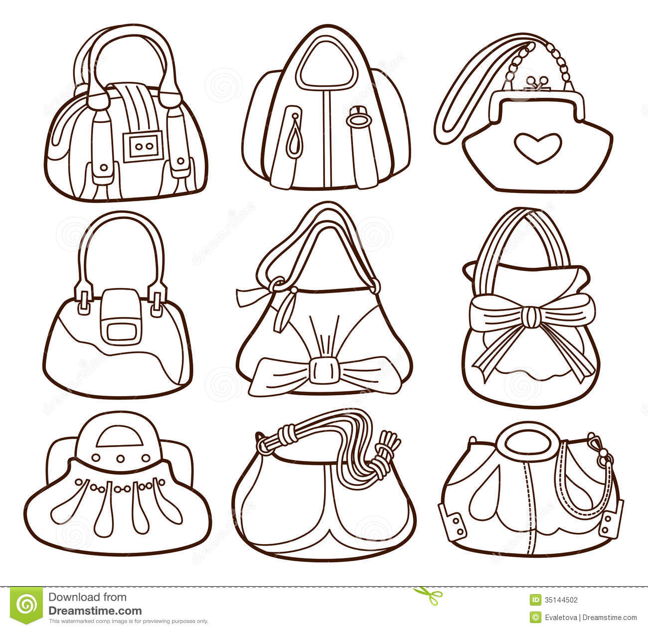 coloring pages of purses - photo#28