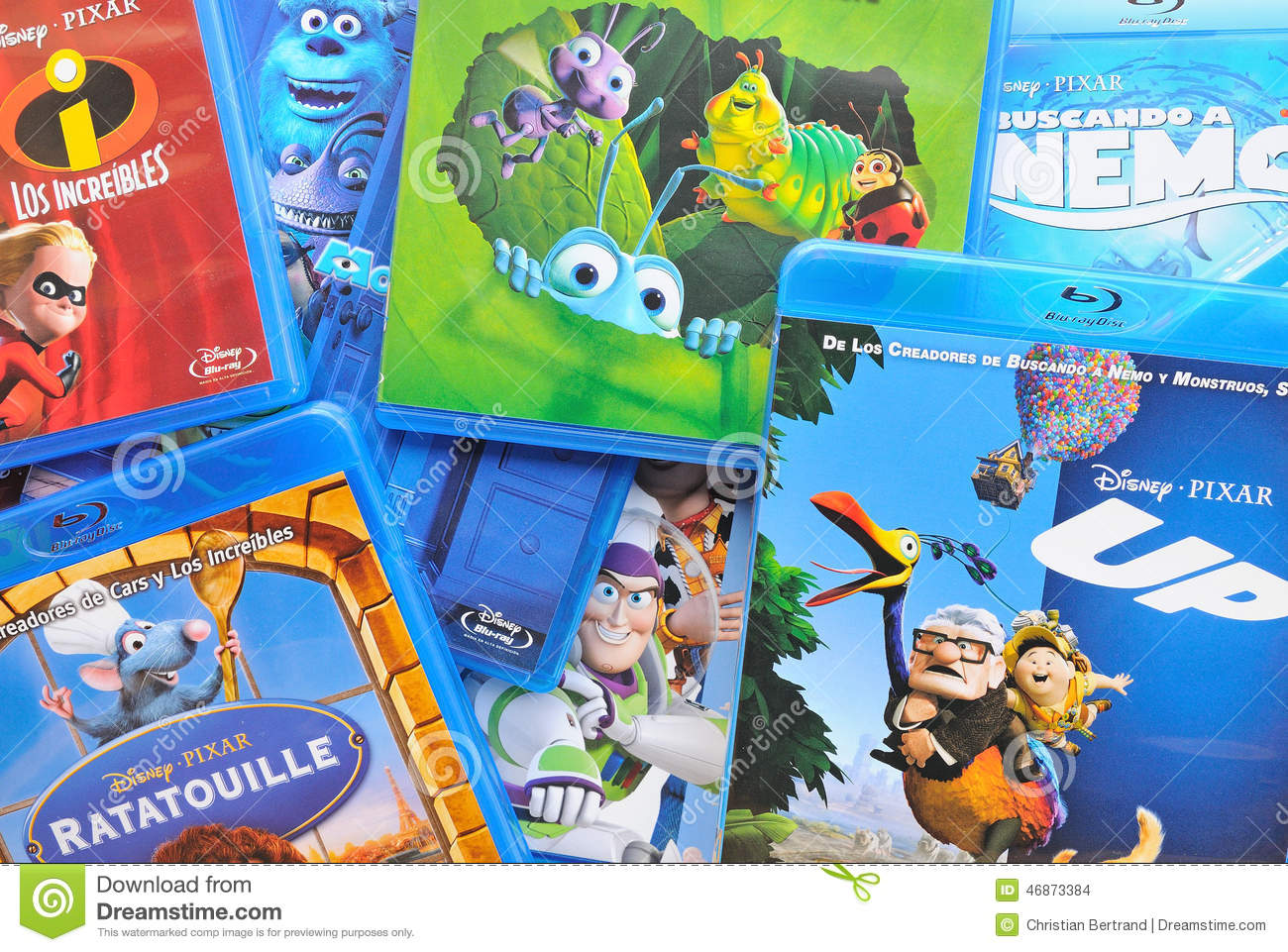 A Collection Of Films By Disney Pixar Animation Studios On Blu Ray