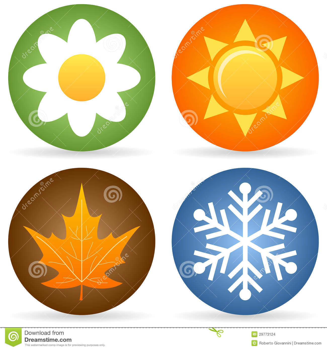 four seasons icons stock images image 29773124 summertime clipart images summertime clip art to print