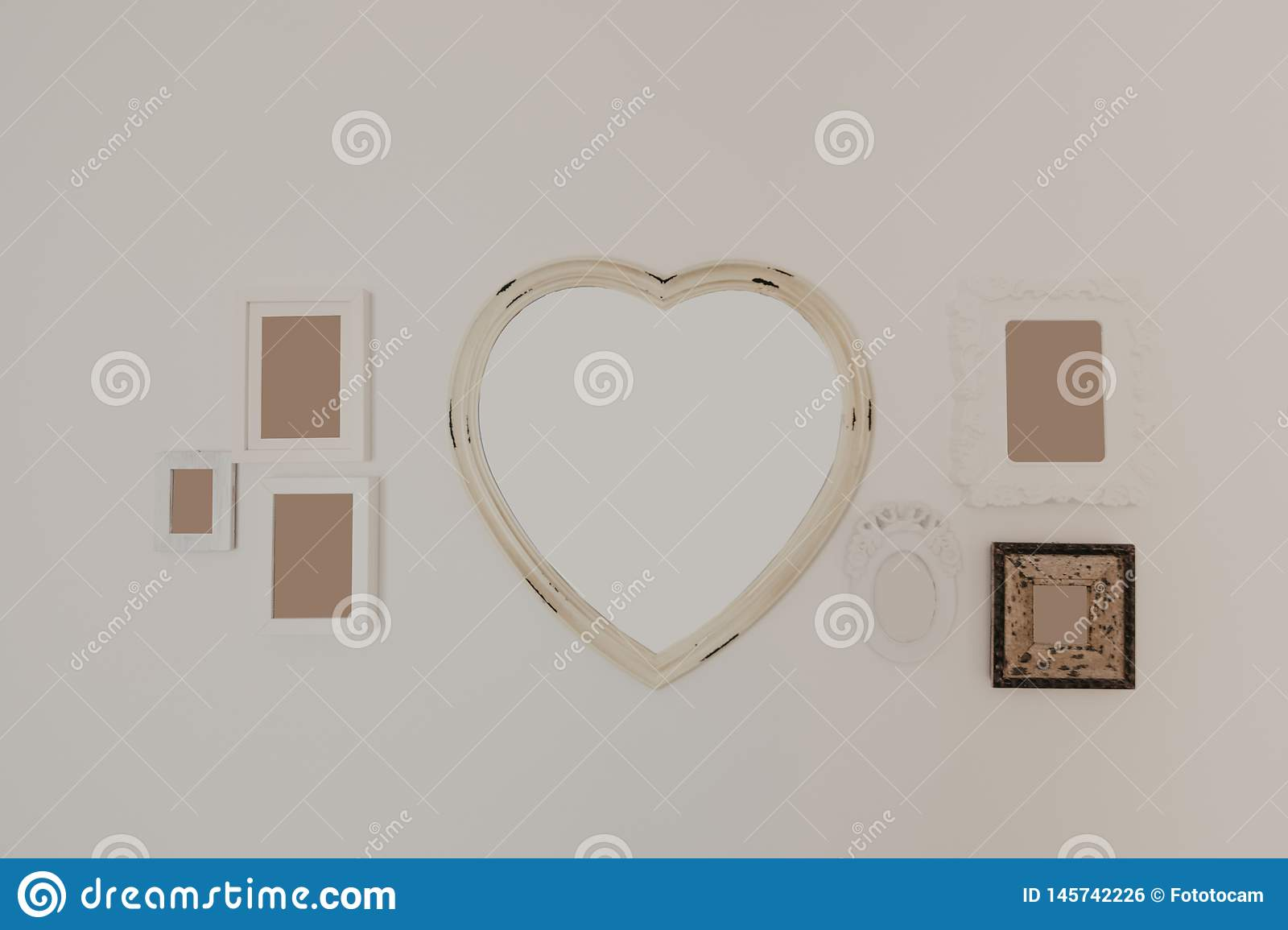 Collection of frames  for pictures and mirror