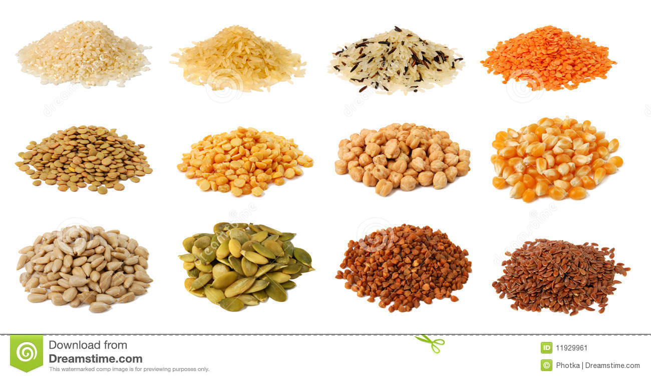 Download Collection of grains stock image. Image of green, collection - 11929961