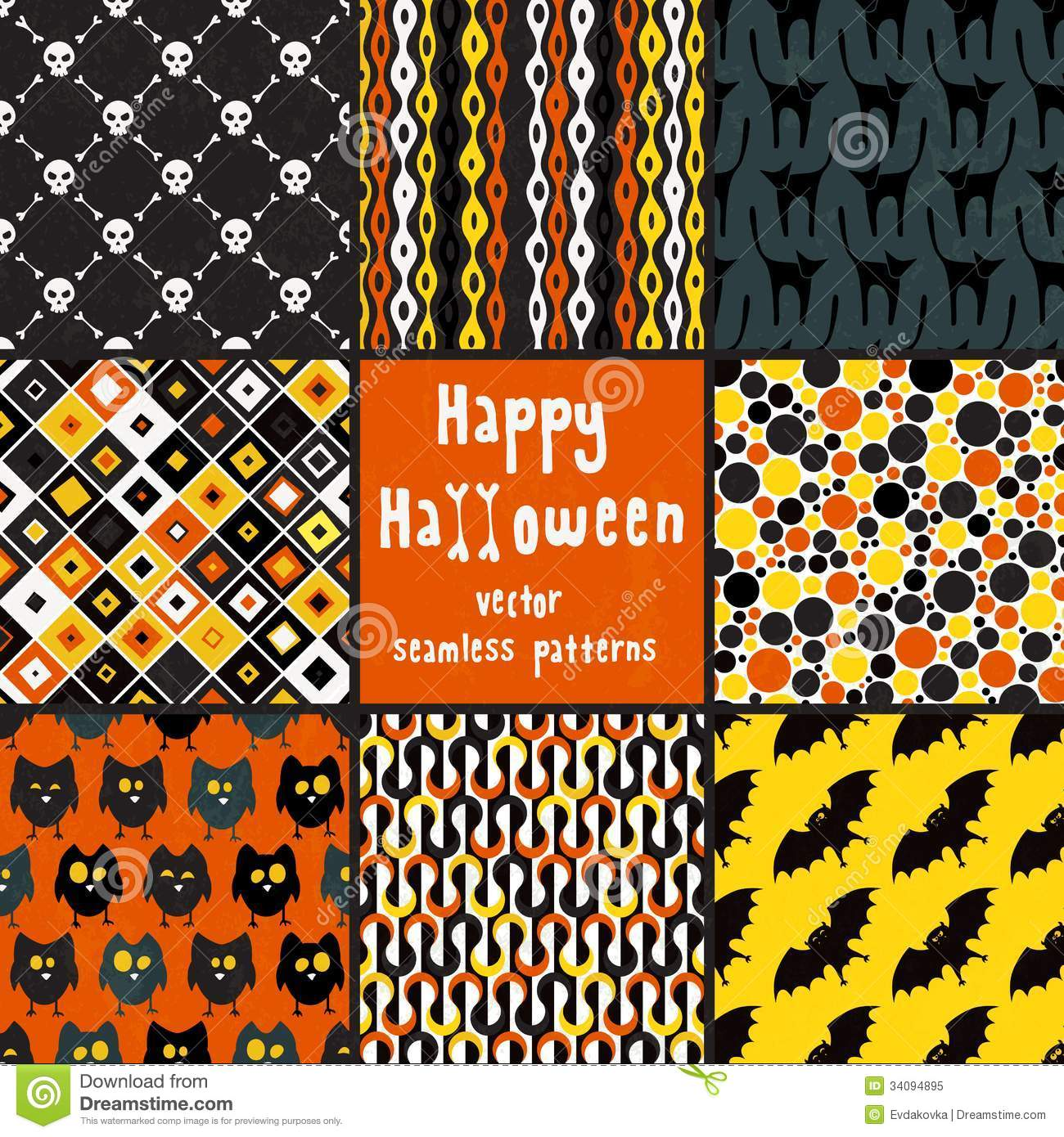 download collection of halloween seamless patterns stock vector illustration of ornament collection