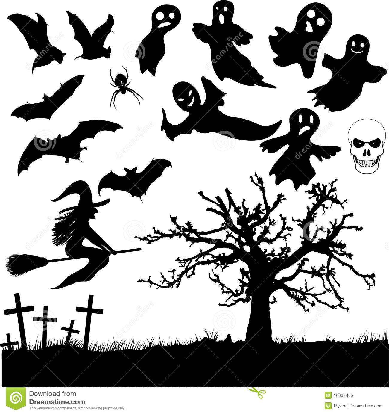 Cricut Home Decor Ideas Collection Of Halloween Silhouettes Royalty Free Stock