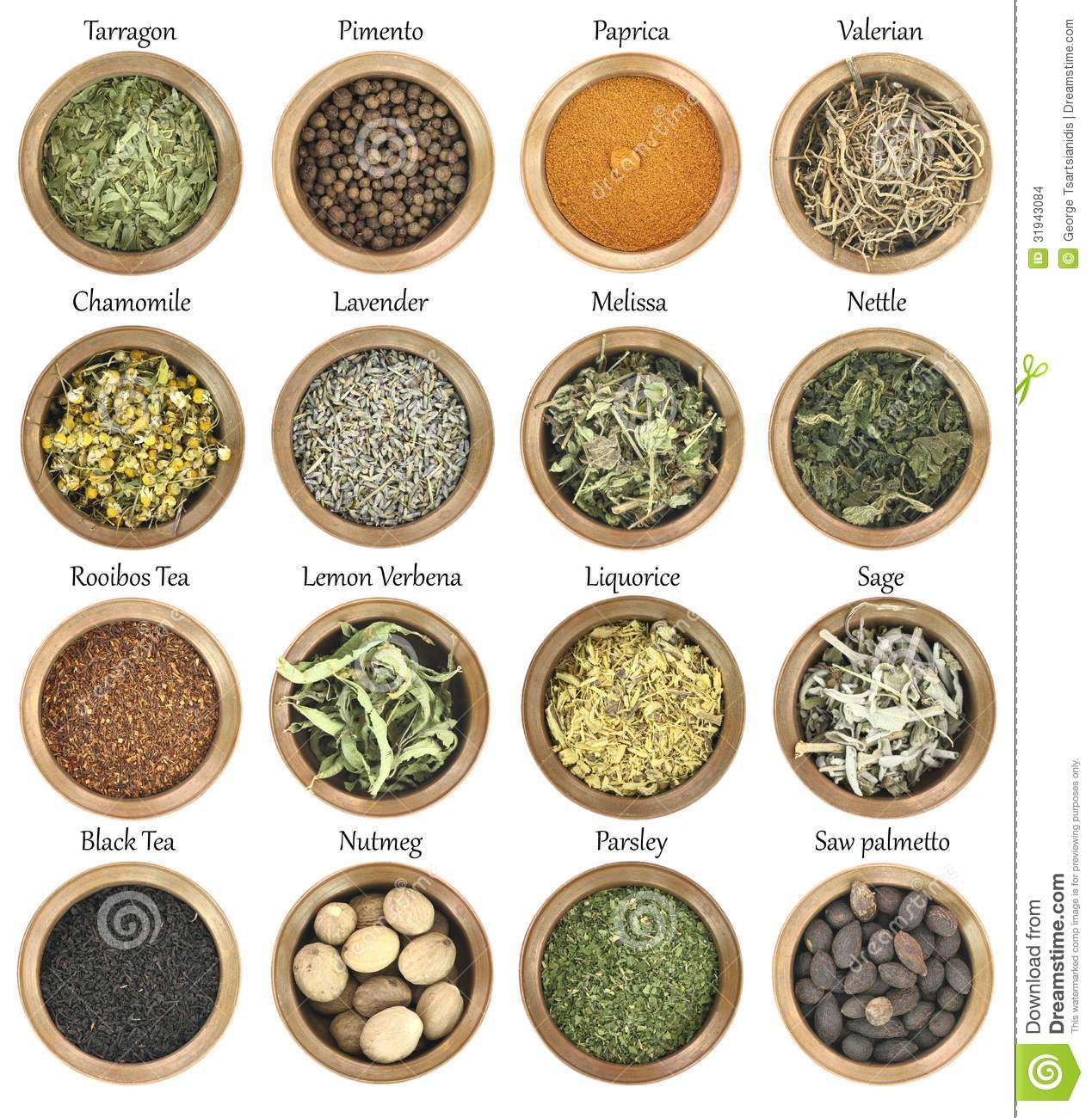 Collection Of Herbs And Spices Royalty-Free Stock Image ...